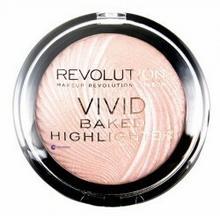 Makeup Revolution Vivid Baked Highlighter rozświetlacz do twarzy Pink Lights 7,5g