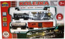 Dromader Kolejka zielona 3 wagony 355cm 5088