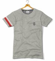 Red Is Bad T-shirt NSZ Jaszczurka z opaską - szary