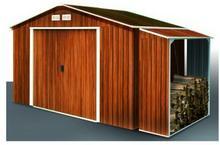 Altana TITAN 4,7 m2 + wiata na drewno WOOD STORE imitacja drewna - Duramax TitanIMD+WS