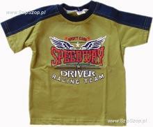 T-shirt dziecięcy Sporciak ciemny groszek 98