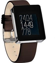 Wellograph smartwatch, monitor aktywności fizycznej, zegarek do fitnessu, srebrny, standard WELLO-SSA14
