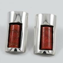 Kolczyki srebrne z koralowcem SA 420 9.1g (SA 420 9.1g)