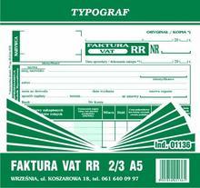 Typograf Faktura VAT RR 2/3 A5