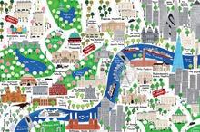 Londyn - Mapa rysunkowa Plakat