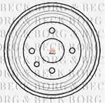 Opinie o BORG & BECK Bęben hamulcowy BBR7040