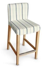 Dekoria Sukienka na krzesło barowe Hendriksdal krótka Avinon ecru tło, niebieski