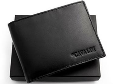 Cavaldi portfel męski skóra 0002 BS C Elegancki męski portfel ze skóry. Połys