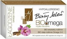 Pollena Biały Jeleń Hipoalergiczne mydło naturalne BioOmega z lukrecją i hibiskusem 85g