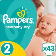 Pampers New Baby-Dry 2 Mini 3-6 kg) 43 szt pieluszki jednorazowe