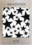 Ferm Living Naklejki ścienne Mini Stars czarne 49 szt. 2082-01