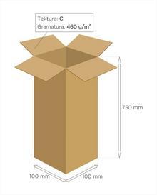 Karton klapowy tekt 3 - 100 x 100 x 750