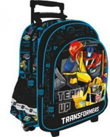 St. Majewski Plecak szkolny na kółkach Transformers 5701359750411