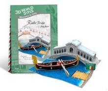 Cubicfun PUZZLE 3D Domki świata Włochy Rialto Bridge 491983