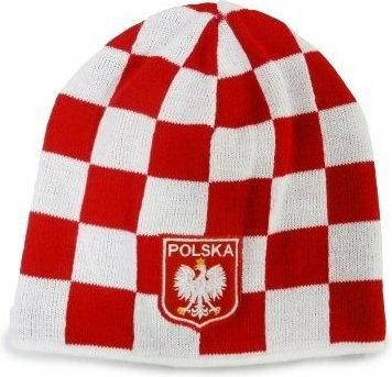 Czapka zimowa Polska krata