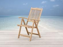 Drewniane krzesło ogrodowe - regulowane oparcie - RIVIERA