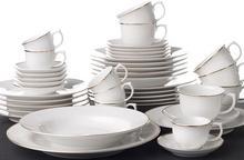 OXFORD FLAMINGO SOFIA - Zastawa stołowa obiadowo-kawowa 42 części dla 6 osób