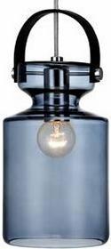 Markslojd Szklana designerska LAMPA wisząca OPRAWA industrialna MILK 105779 IP20 LOFT Niebieski
