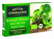 Natur Compagnie BULION - KOSTKI ZIOŁOWE Z BAZYLIĄ I TYMIANKIEM BIO 80 g -