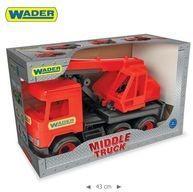 Wader Middle Truck Dźwig czerwony w kartonie