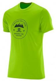 Salomon T-Shirt MĘSKA MOUNT SIGN SS COTTON TEE M 380831 GRANNY zielony