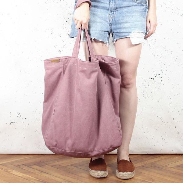 125aeaac7c0e9 DaWanda.pl pl Big Lazy bag torba różowa na zamek tote vegan female 103461175