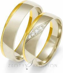 Złoty Skorpion Obrączki ślubne - wzór Au-OE207