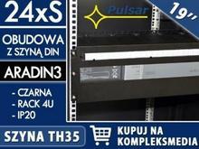PULSAR 24x1S - Obudowa 4U z szyną DIN do szaf RACK 19 marki W PAKIETACH KUPISZ TANIEJ! ARADIN3