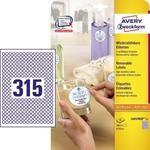 Avery Zweckform Okrągłe etykiety usuwalne śr. 10 mm, 7875 etykiet