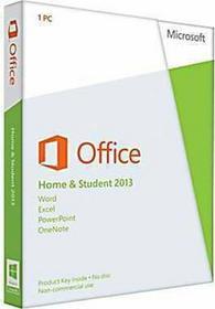Microsoft Office 2013 Home and Student - dla użytkowników domowych i uczniów PL licencja elektroniczna