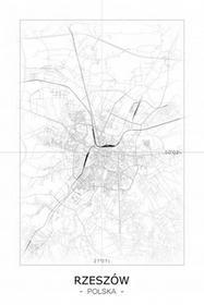 Rzeszów - Czarno-biała mapa