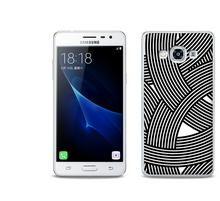 Etuo.pl Fantastic Case - Samsung Galaxy J3 (2017) - etui na telefon Fantastic Case - biało-czarna mozaika ETSM456FNTCFC027000