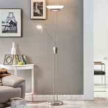 Lampenwelt Lampa ośw. sufit LED Yveta z lampką do czytania