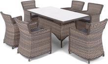 Home&Garden Meble ogrodowe technorattanowe Colorado Brown / Grey 924615