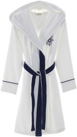 Soft Cotton Damski krótki szlafrok MARINE LADY z kapturem L Biały