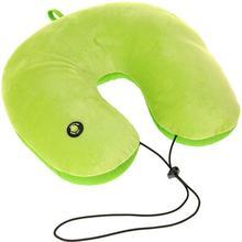 Poduszka podróżna pod głowę, szyję ? rogal z funkcją masażu - zielony 159370070