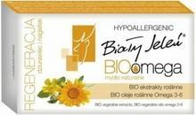 Pollena Bio Omega regeneracja dziurawiec i nagietek Mydło w kostce naturalne 85g