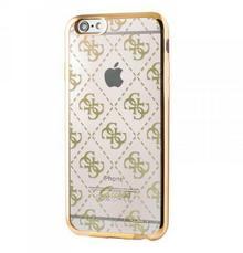 Guess 4G Transparent - Etui iPhone 6/6s (przezroczysty/złoty) GUHCP6TR4GG