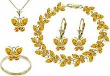 Galaxy Gold Products , Inc 2627 Komplet biżuterii z cytrynów