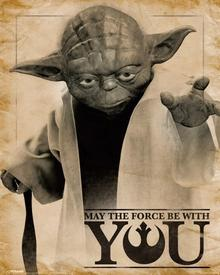 Star Wars Classic (Yoda, May the force be with you) Plakat