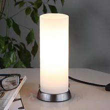 Lampenwelt Cylindryczna Lampa stołowa LED ANDREW ze szkła