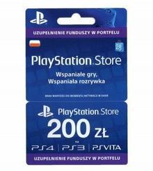 SONY Doładowanie PlayStation Store 200 zł ( polska dystrybucja ) PSSTORE200