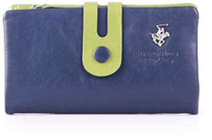 Beverly Hills Polo Club portfel damski skóra Utah - zielony BH-283 blue