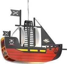 Rabalux Dziecięca LAMPA wisząca SHIP 4719 IP20 statek Czarny czerwony