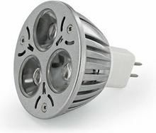 Whitenergy żarówka 3 x POWER LED | MR16 | 3W | 12V | barwa zimna biała 6000k | reflektor