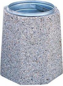 kosz na śmieci z betonu Zuza 70 L KSB0012