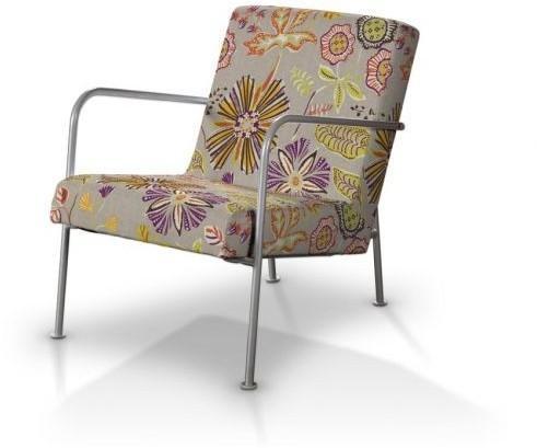Dekoria Pokrowiec Na Fotel Ikea Ps Pomarańczowo Fioletowe Kwiaty Na