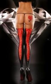 Lolitta Arcyseksowne Pończochy Lacing Stockings Red