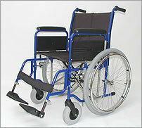 WZSO Wózek inwalidzki z napędem ręcznym składany dla otyłych typu: 5065  w wersji: 5065-322 dla otyłych