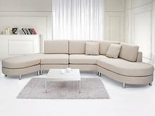 Beliani Luksusowa sofa tapicerowana - kanapa z 100% poliestru w kolorze bezowym - COPENHAGEN